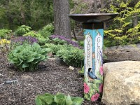 Bird Bath Art Pole Garden Glory