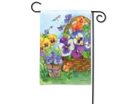 Garden Flag Pansy Lane