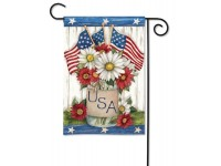 Garden Flag USA Mason Jar