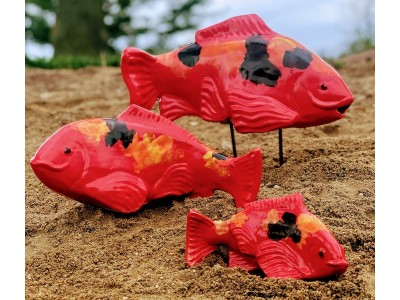 Ceramic Salsa Koi with Black-medium