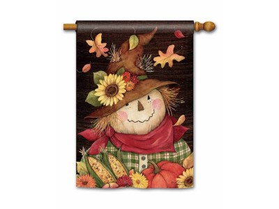 House Flag Autumn Scarecrow