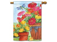 House Flag Marigolds and Zinnias