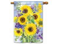 House Flag Sunflower Burst